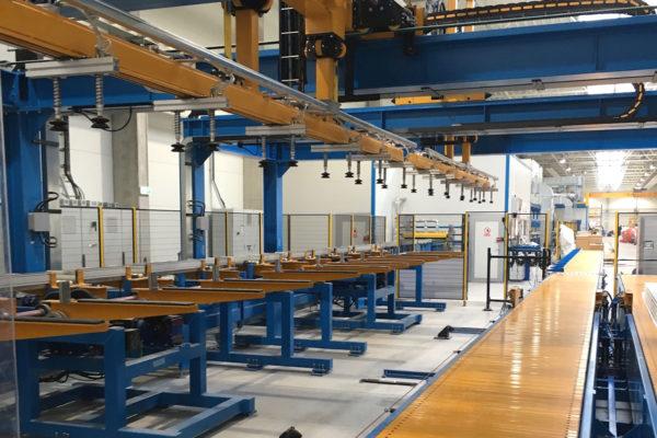 Línea de producción paneles sandwich – Sistemas – Enfriamiento y manipulación
