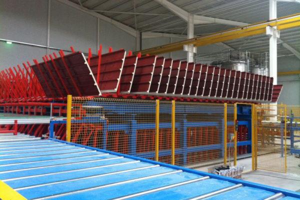 Impianti e linee per la produzione in continuo pannelli sandwich – Impianti – Raffreddamento e manipolazione