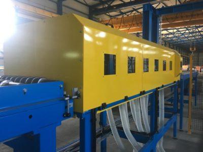 Impianti e linee per la produzione in continuo pannelli sandwich - Aggiornamenti - Sezione lana minerale macchina dosatrice colla