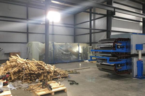 Sistema de produção de painéis sandwich – Serviços – Relocalização das instalações