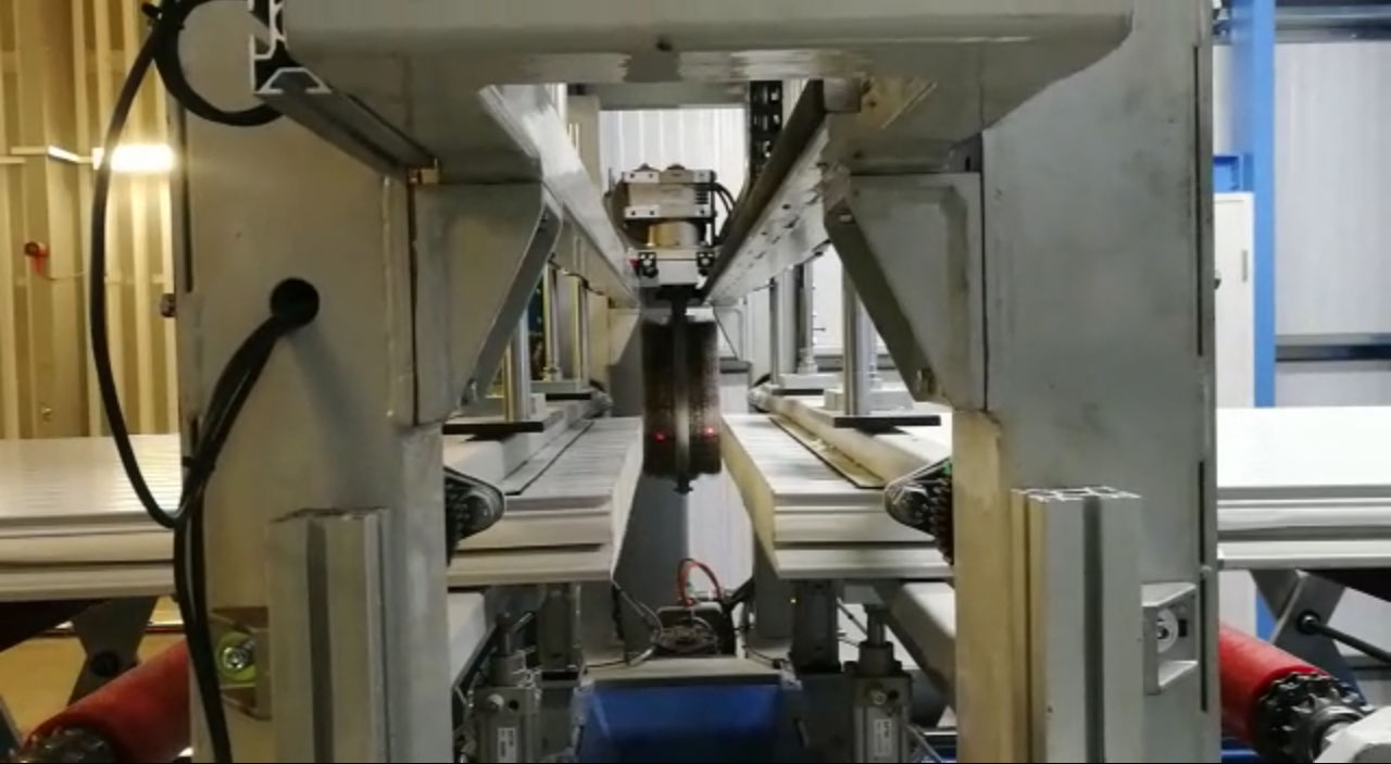 Sandwich panel line - Plants - Brushing unit video prev