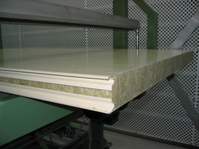 Sandwich panel line - Upgrades - Mineral wool section glue machine