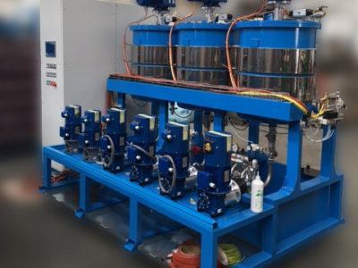 Sandwich panel line - Upgrades - Mineral wool section glue machine