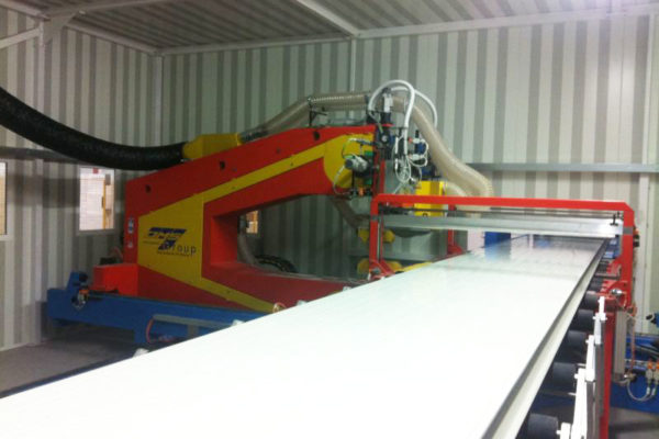 Sandwich panel machine line flying cut to length - 1first srl