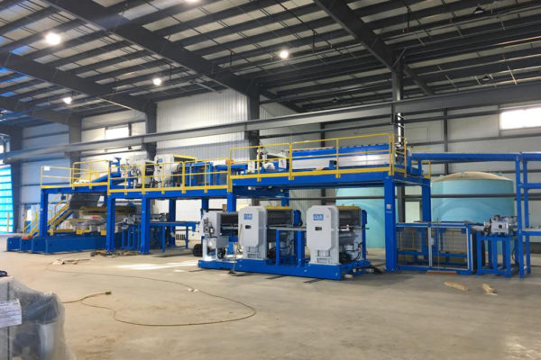 Sandwich panel production line – Service – Plant displacement