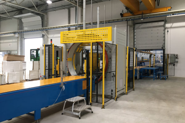 Sandwich panel production line wrapping machine - 1first srl