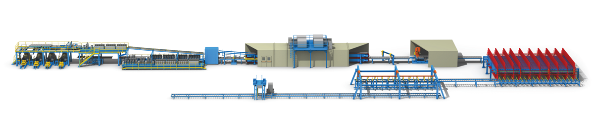 sandwich panel production line 3d